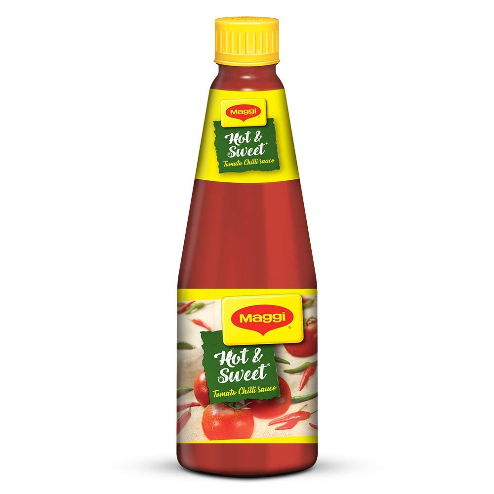 Maggi Hot & Sweet Tomato Chilli Sauce Bottle.
