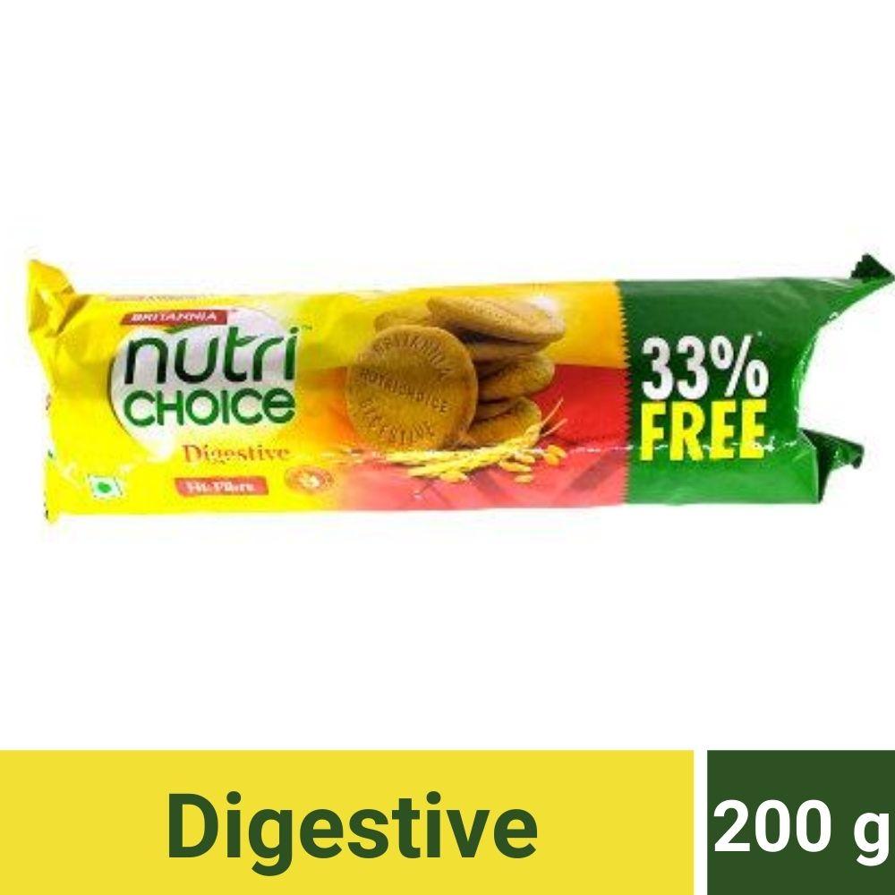 Britannia Nutri Choice Digestive Hi Fibre Biscuits.