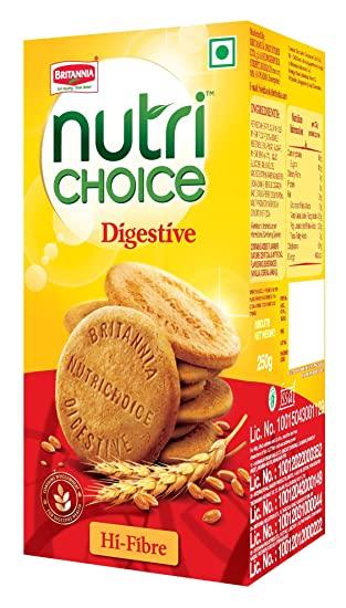Britannia NutriChoice Digestives High Fibre.