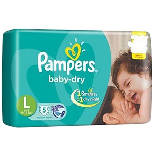 Pampers Baby Dry Diapers, L- 5 Count