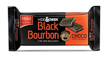 Parle Hide and Seek Black Bourbon Biscuit - Vanilla