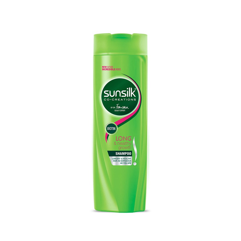 Sunsilk Long and Healthy Growth Shampoo.