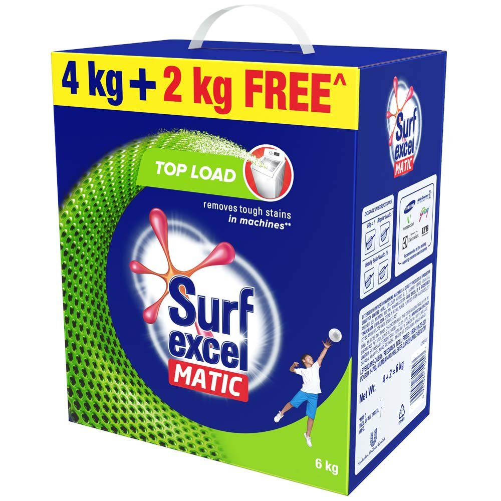 Surfexcel Matic Top Load 4Kg+2Kg Free