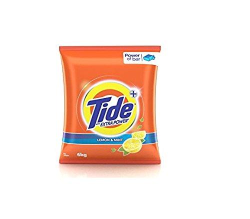 Tide Plus Detergent Powder, Lemon and Mint.