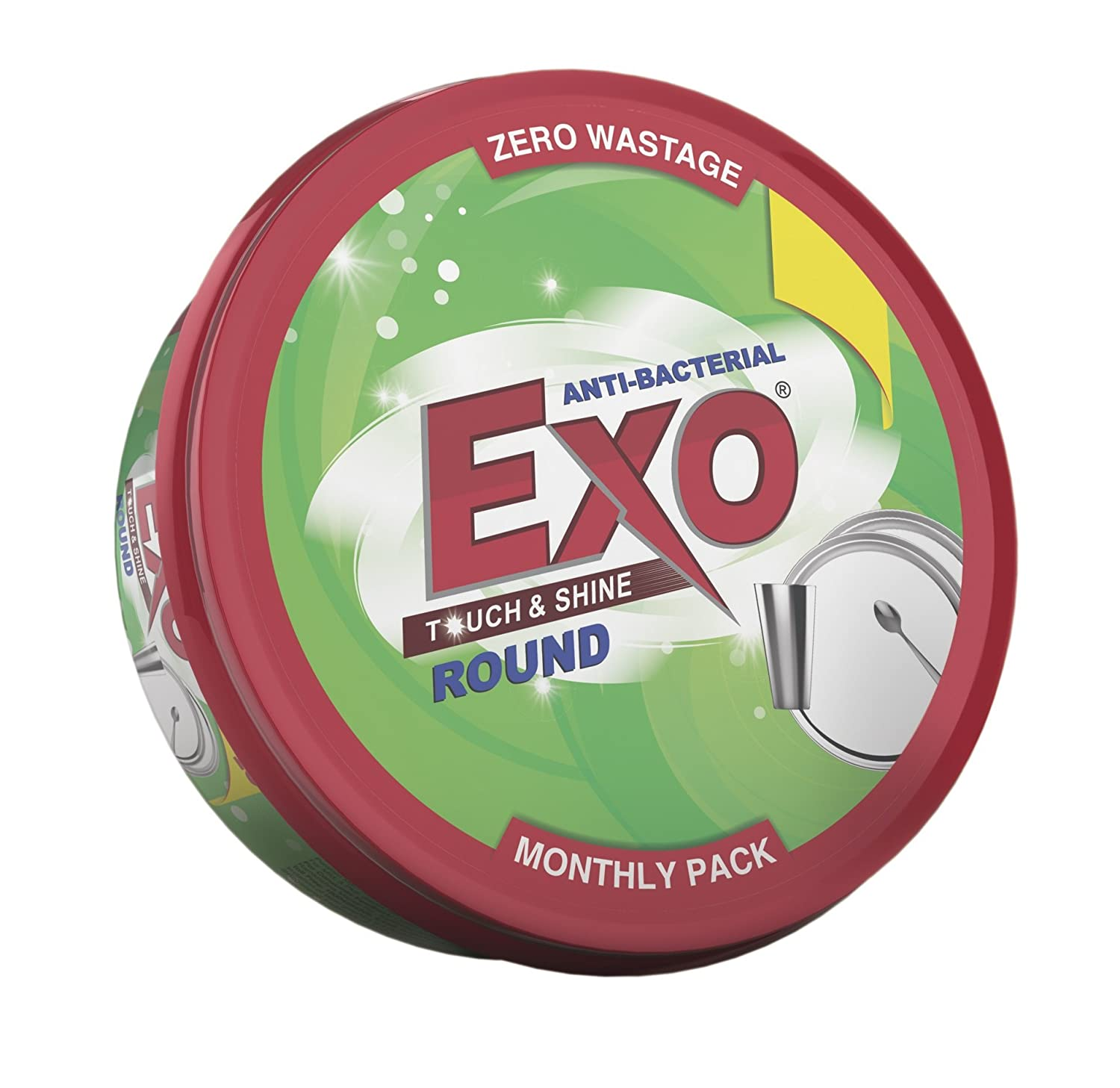 Exo Touch & Shine Anti-Bacterial Round Dishwash Bar.