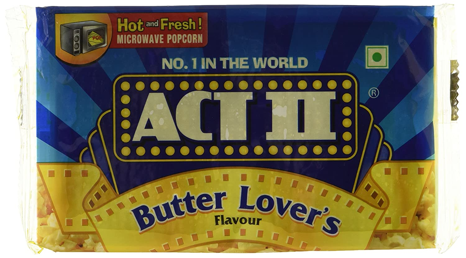 Act II Microwave Popcorn Butter Lovers Flavor.