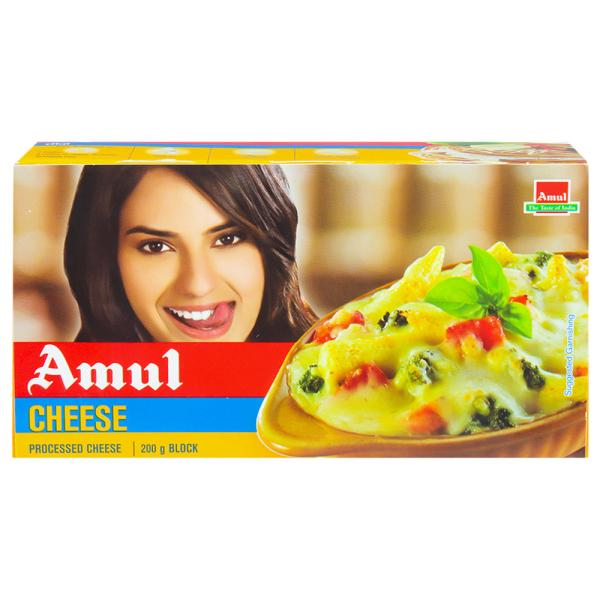 Amul Plain Processed cheese Block.