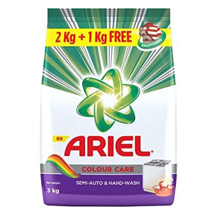 Ariel Colour Detergent Washing Powder 2Kg+1Kg