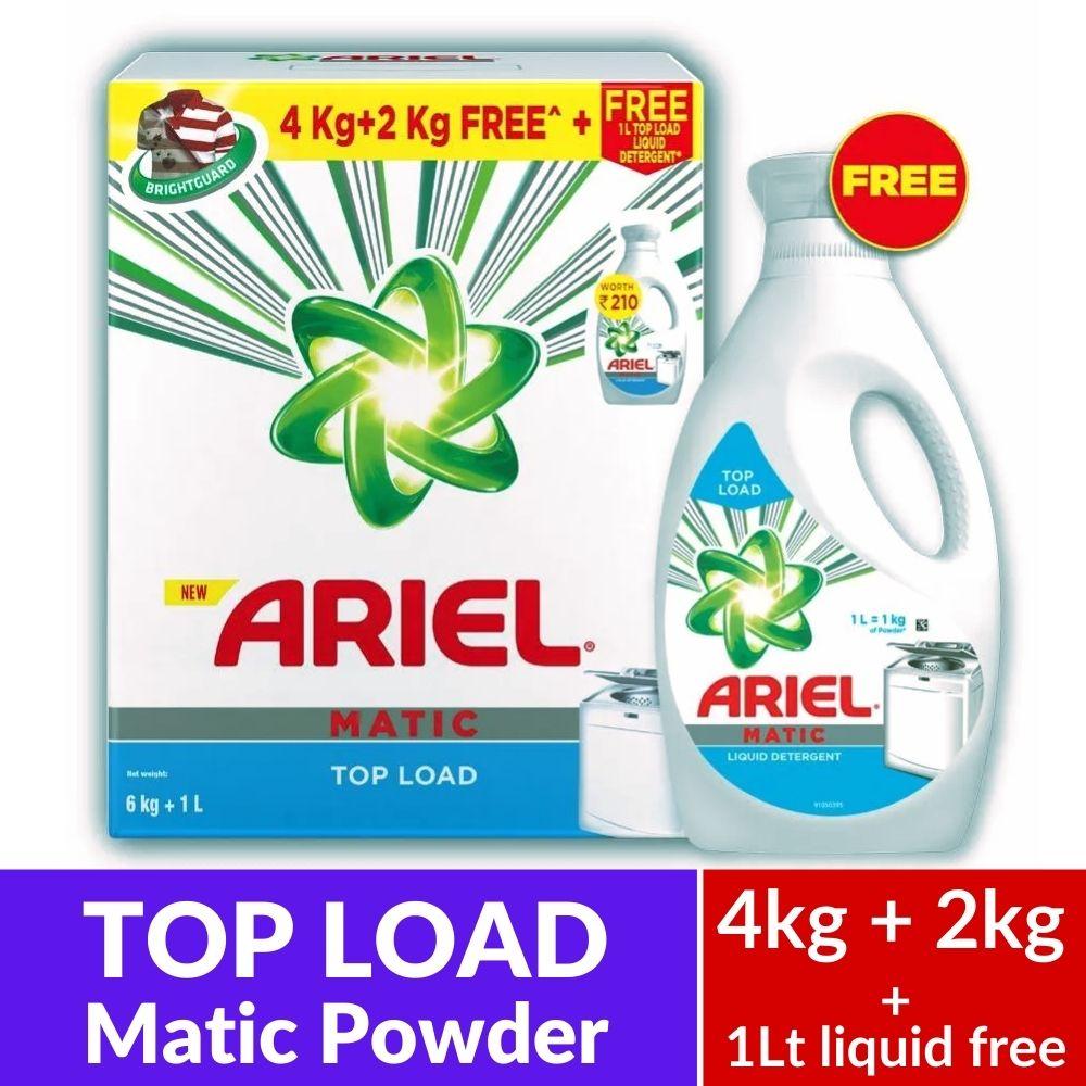 Ariel Top Load 4Kg+2Kg+1L Liq Free