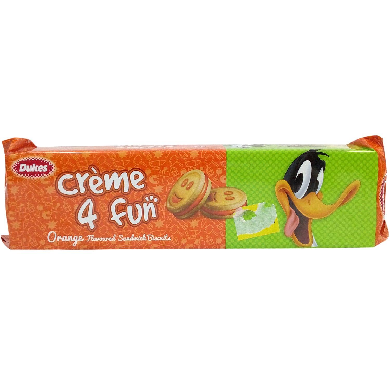 Dukes Cream 4 Fun Biscuits Orange.