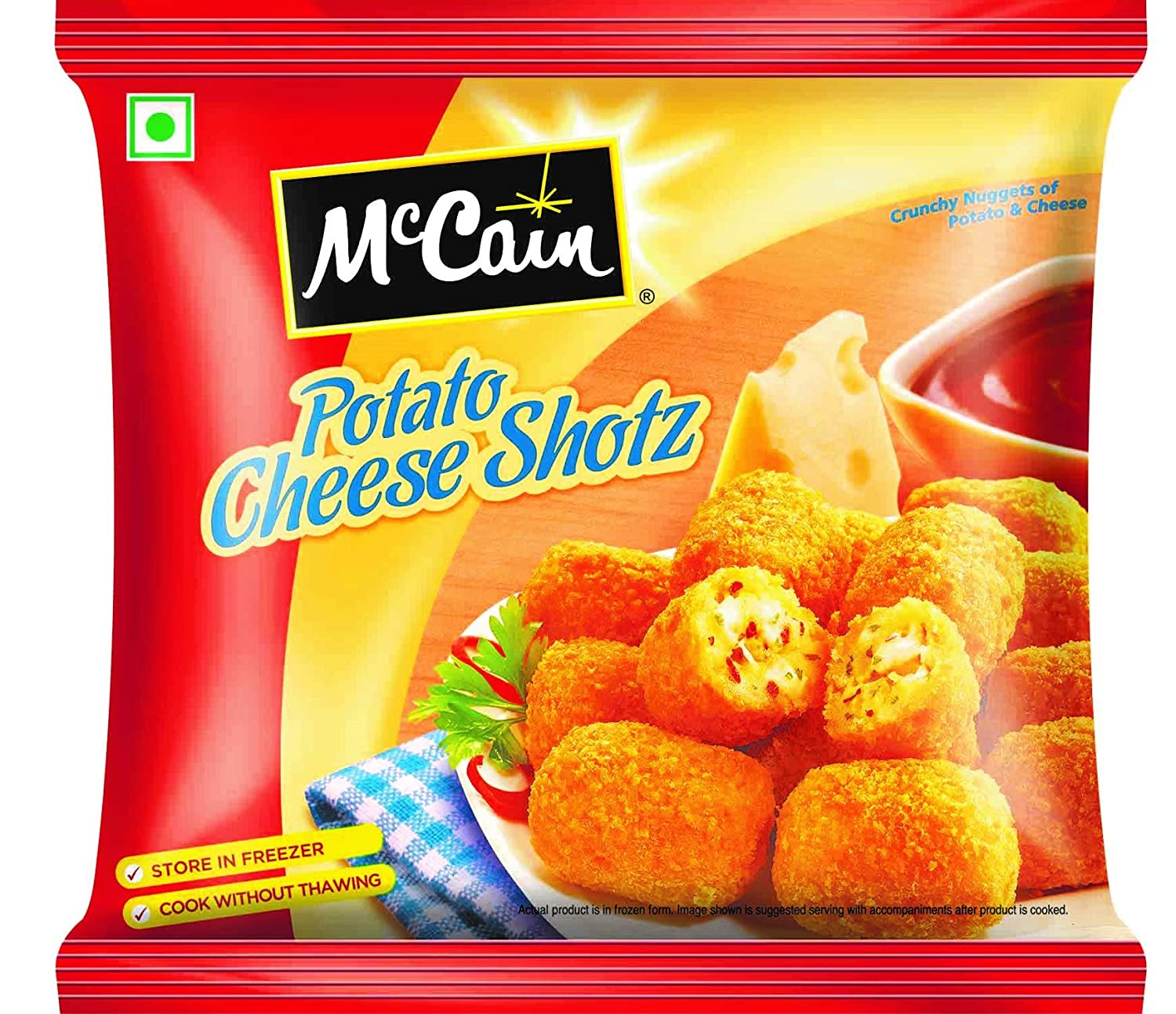 MCCAIN POTATO CHEESE SHOTS PP