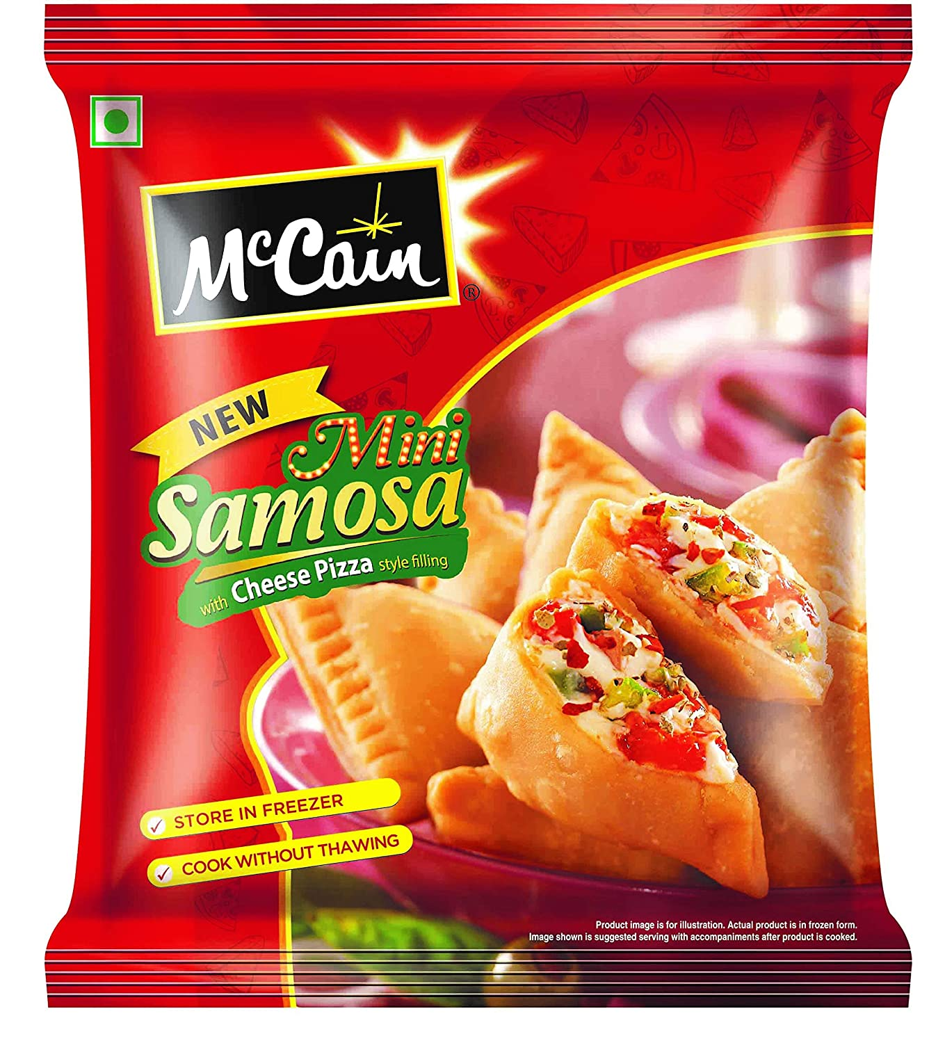 MCCAIN CHEESE PIZZA SAMOSA PP