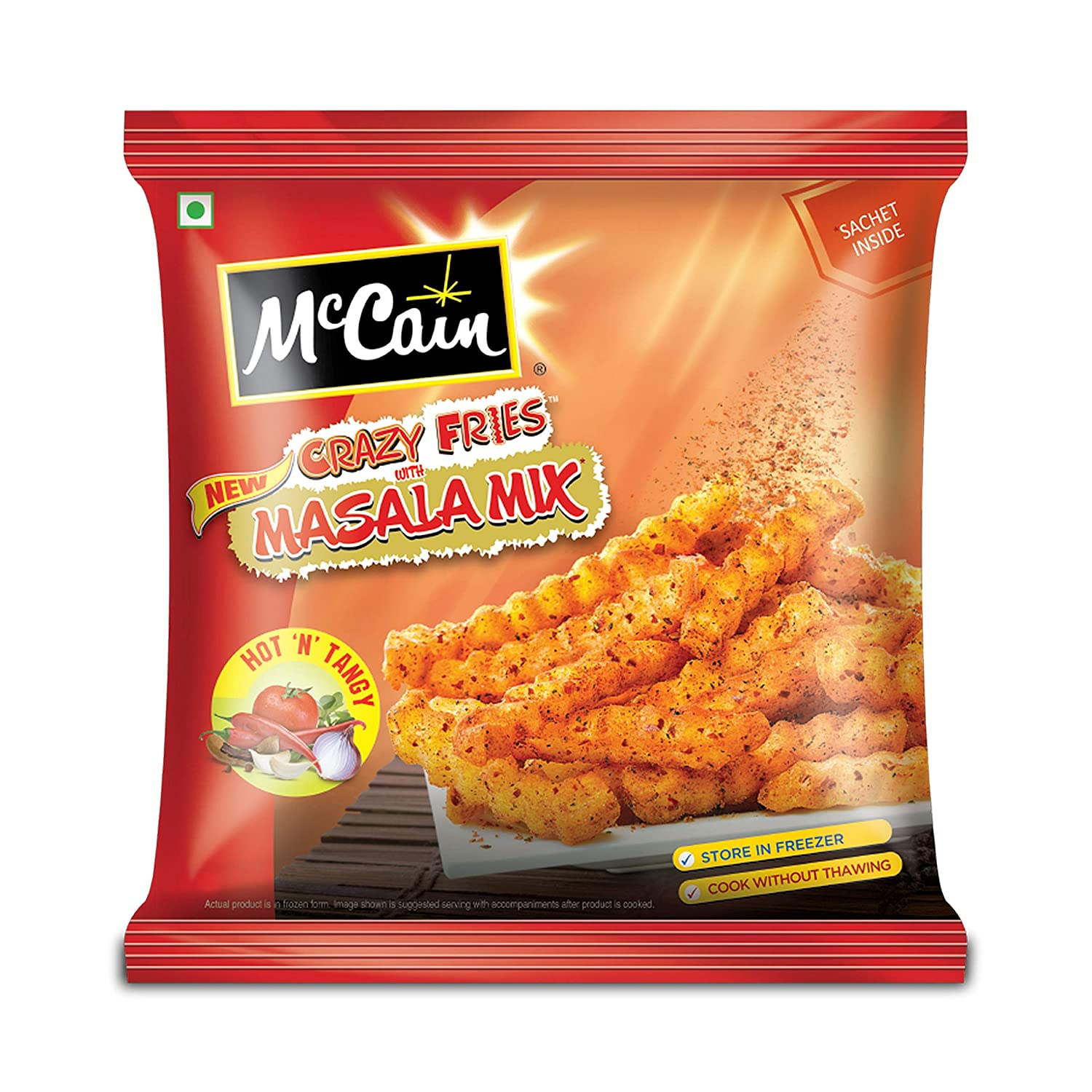 MCCAIN CRAZY FRIES HOT TANGY MASALA MAGIC PP