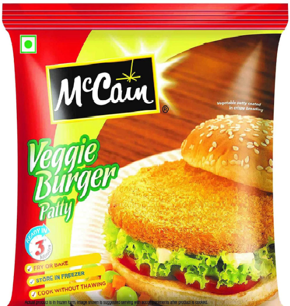 MCCAIN VEGGIE BURGER PATTY PP