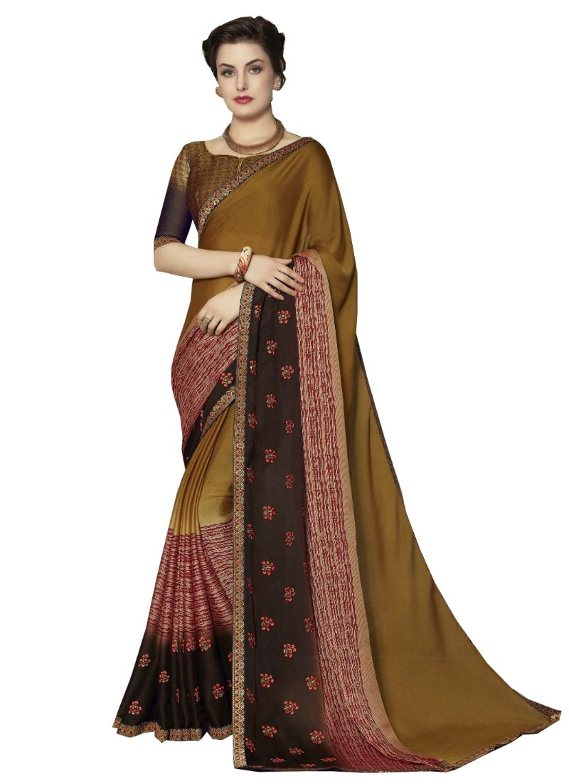 NAVRANG Mustard Colour Traditional Silk Saree PINAV-8010