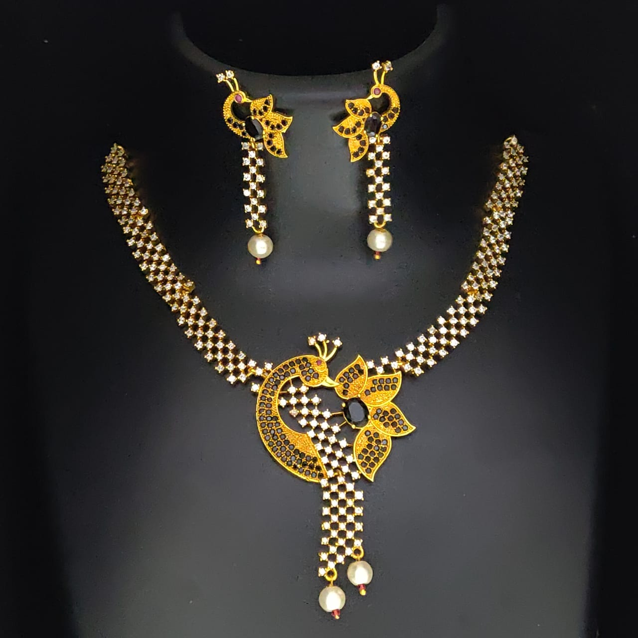 Peacock Style Necklace Set for Women and Girls