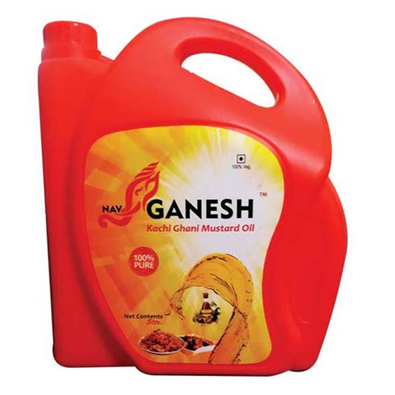 GANESH BRAND MUSTARD OIL 5 LT JAR