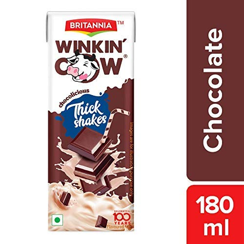 BRITANNIA WINKIN COW CHOCOLATE 180ML