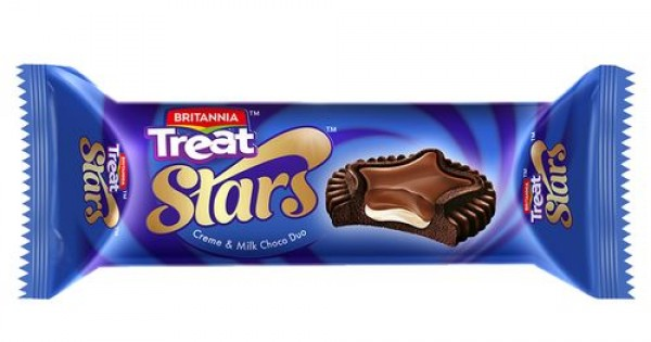 BRITANNIA TREAT STARS MILK CHOCO