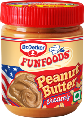 PEANUTBUTTER CREAMY RED 340G