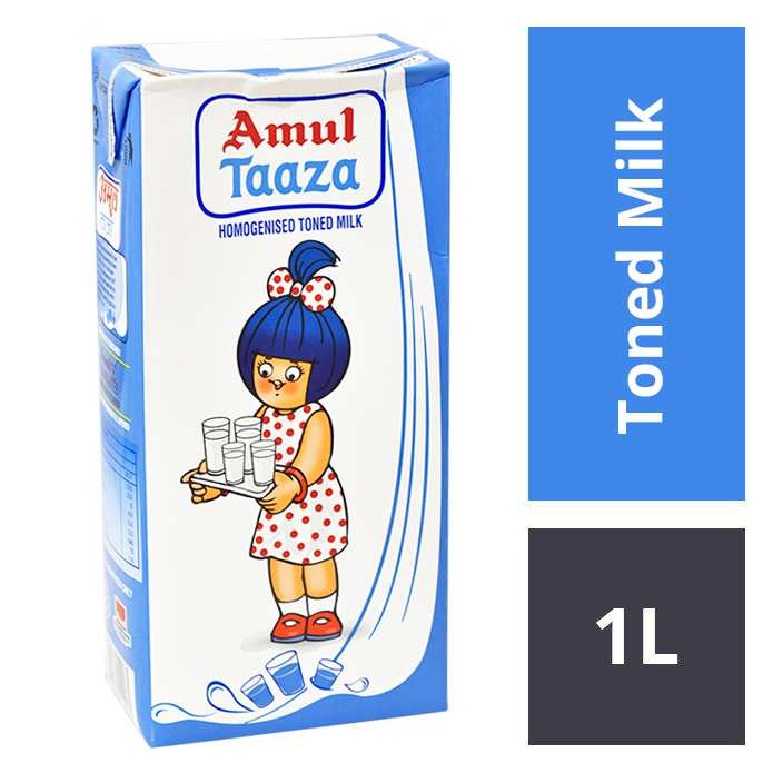 Amul Taaza Fresh Toned Milk TP