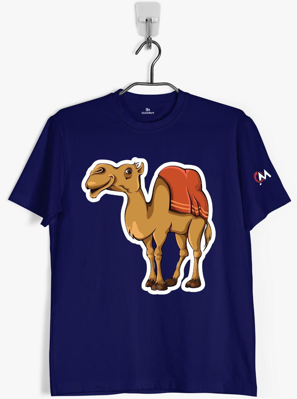 f323624deff6 S022 Camel Printed Men s Round Neck T-Shirt- T-Shirts- Topwear - Men ...