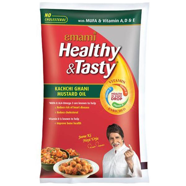 HEALTHY & TASTY KACCHI GHANI MUSTARD OIL (Pouch)