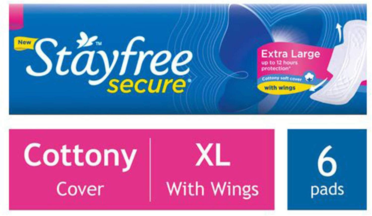 STAYFREE SECURE COTTONY EXTRA LARGE 36/-