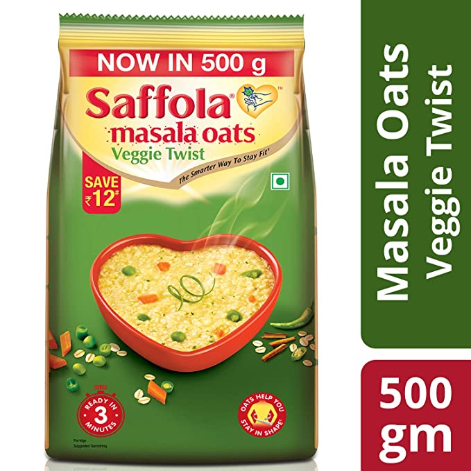 SAFFOLA MASALA OATS-VEG TWIST 500g