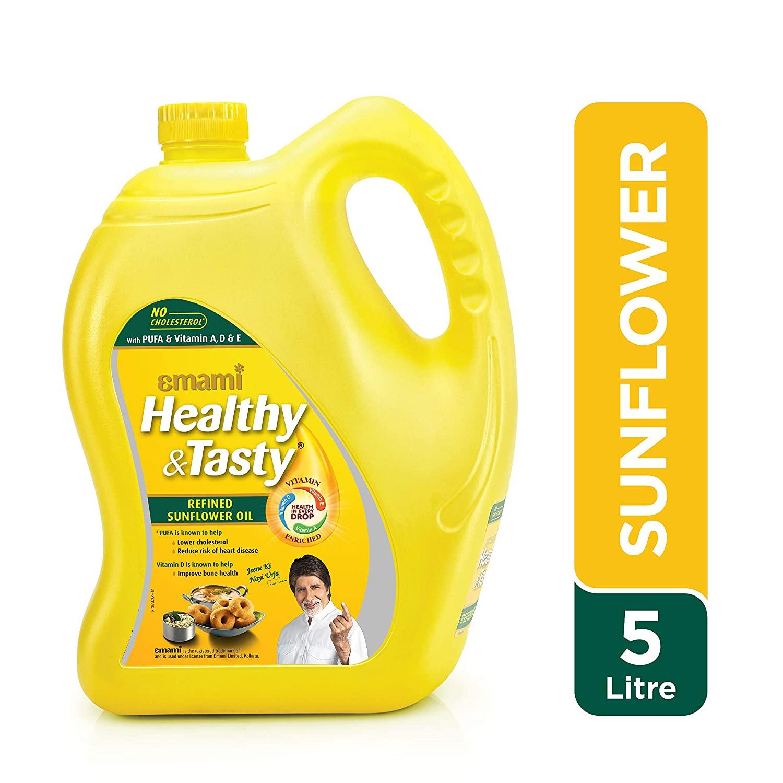 HEALTHY & TASTY SUNFLOWER OIL 5l JAR