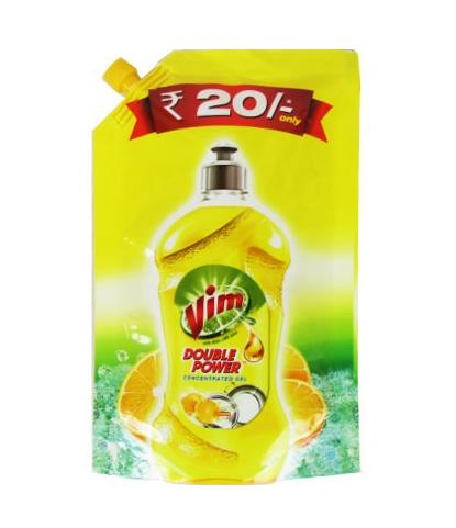 Vim Dishwash Liquid Gel Lemon