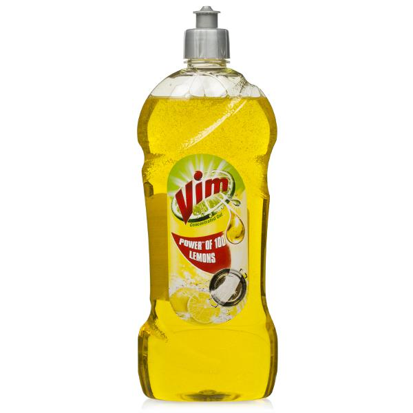Vim Dishwash Liquid Gel Lemon