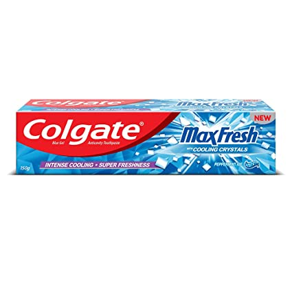 Colgate Max Fresh Peppermint Ice Blue Gel Toothpaste
