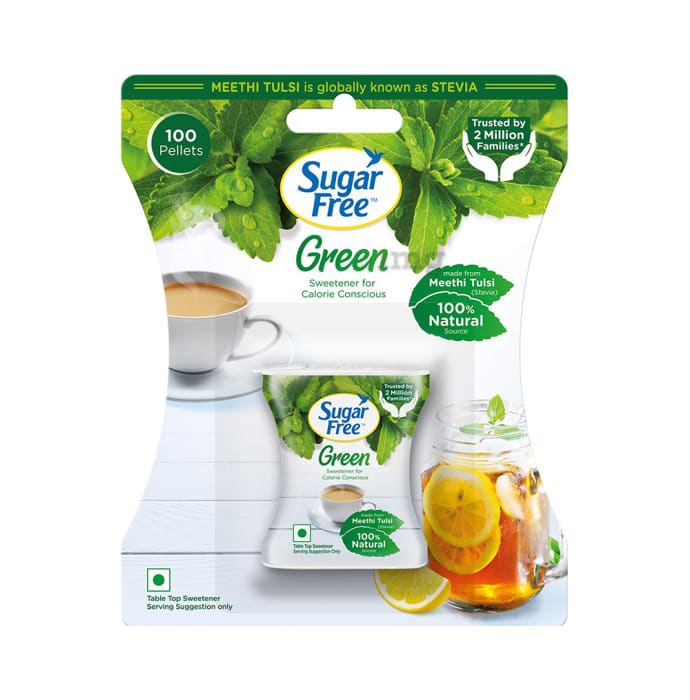 SUGARFREE GREEN(STEVIA)100PELLETS 75/-