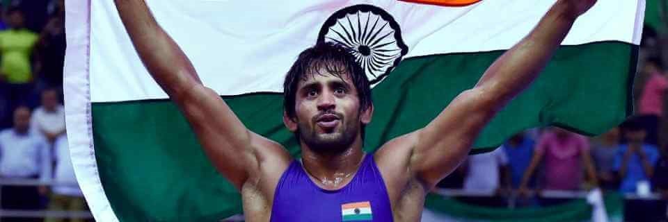 Indian wrestler bajrang punia at asian games 2018