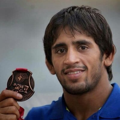 Bajrang Punia, freestyle wrestler from Haryana (India)