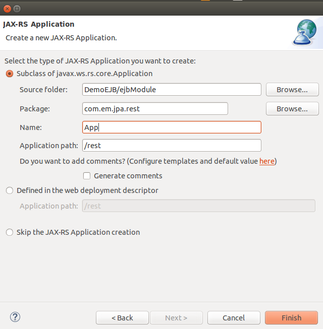 Create App Class with application path