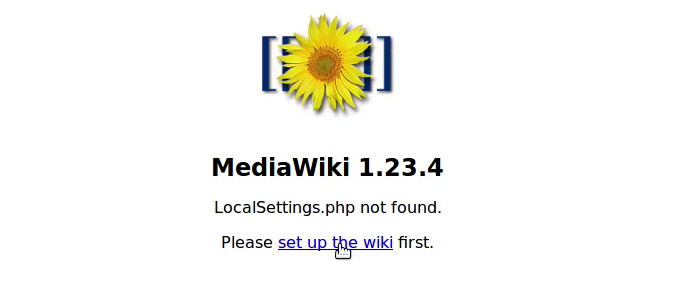 Mediawiki Installation 1