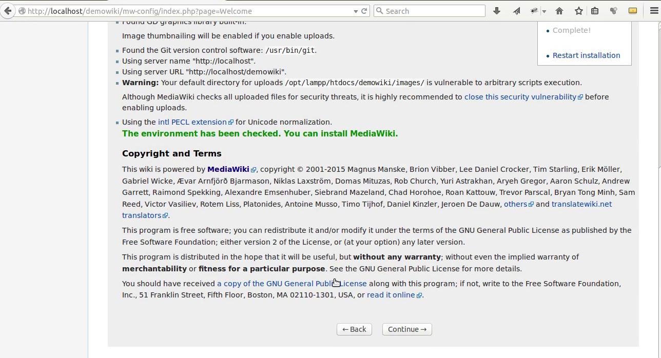 Mediawiki Installation 4