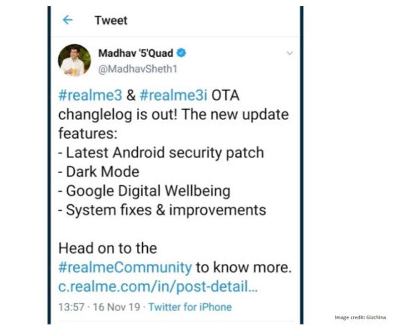 Madhav-Seth-Tweet-Using-Android-Phone