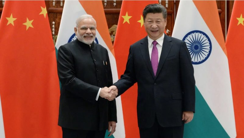 Narendra Modi and XI Xinping of China