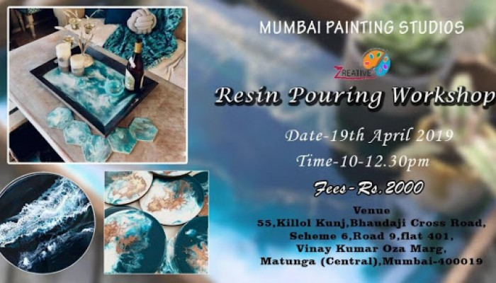 Resin Pouring Workshop - With Artist-Shivangi Patel | Events