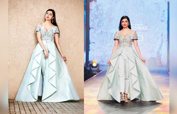 शोस्टॉपर दिव्या खोसला कुमार ने फैशन शो में जीता सबका दिल!