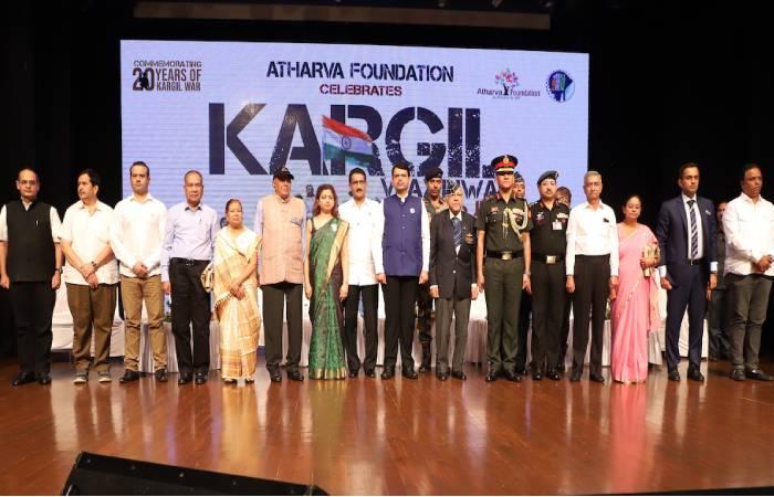 अथर्व फ़ाउंडेशन द्वारा 20वें  कारगिल विजय दिवस पर शूरवीर सैनिकों का सम्मान