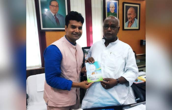 हीरो राजन कुमार की बिहार के आर्ट ऐंड कल्चर मिनिस्टर से अहम मुलाकात