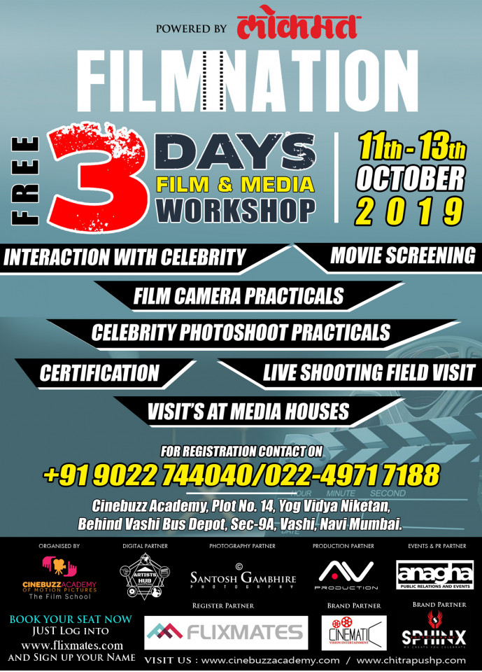 FILMNATION Free 3 Days Film and Media Workshop