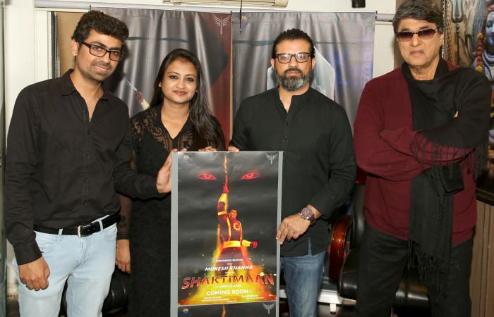 """मुकेश खन्ना के हाथों 3 डी एनिमेटेड सीरीज """"शक्तिमान"""" का पोस्टर लांच"""