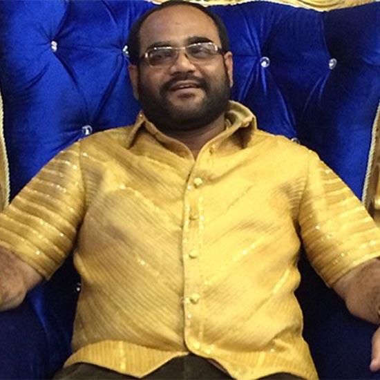 NCP leader Pankaj Parakh in his Gold Shirt