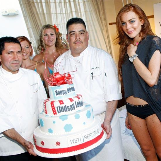 Lindsay Lohan celebrating her 20th birthday