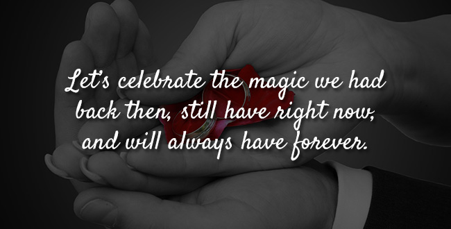 Let's celebrate the magic we had back then, still have right now, and will always have forever